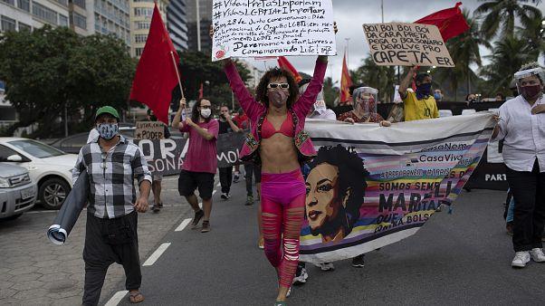 Manifestação contra Bolsonario no Rio de Janeiro