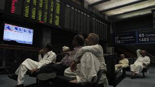 FILE: Pakistani stock brokers monitor the market at Karachi Stock Exchange in Karachi, Pakistan, Wednesday, Nov. 9, 2016.
