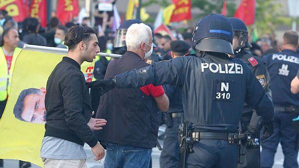 درگیری در جریان تظاهرات کردها در اتریش