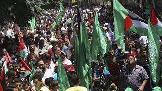 Palestinianos protestam contra anexação da Cisjordânia