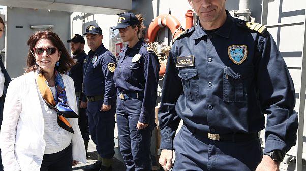 Η Πρόεδρος της Ελληνικής Δημοκρατίας Κατερίνα Σακελλαροπούλου στο Αγαθονήσι
