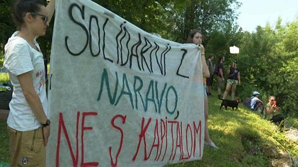 Környezetvédők akciója a Száva szlovén szakaszán