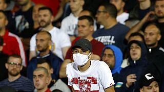 Beim Fußball in Serbien