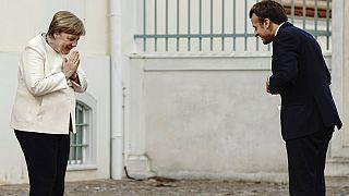 Меркель и Макрон: первая посткарантинная встреча вживую