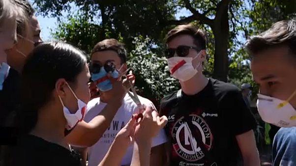 """Демонстрация в Бишкеке против закона """"о манипуляции информацией"""""""