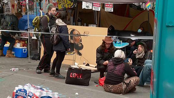 Protesta okupa en la que se produjo un tiroteo en Seattle