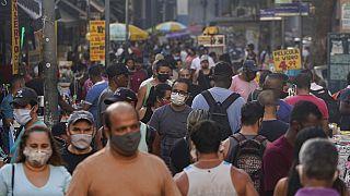 Mercado de rua no Rio de Janeiro
