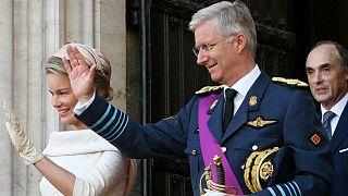 Belçika Kralı Philippe ve eşi