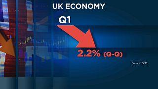 Economia britânica em queda - e pode perder muito mais