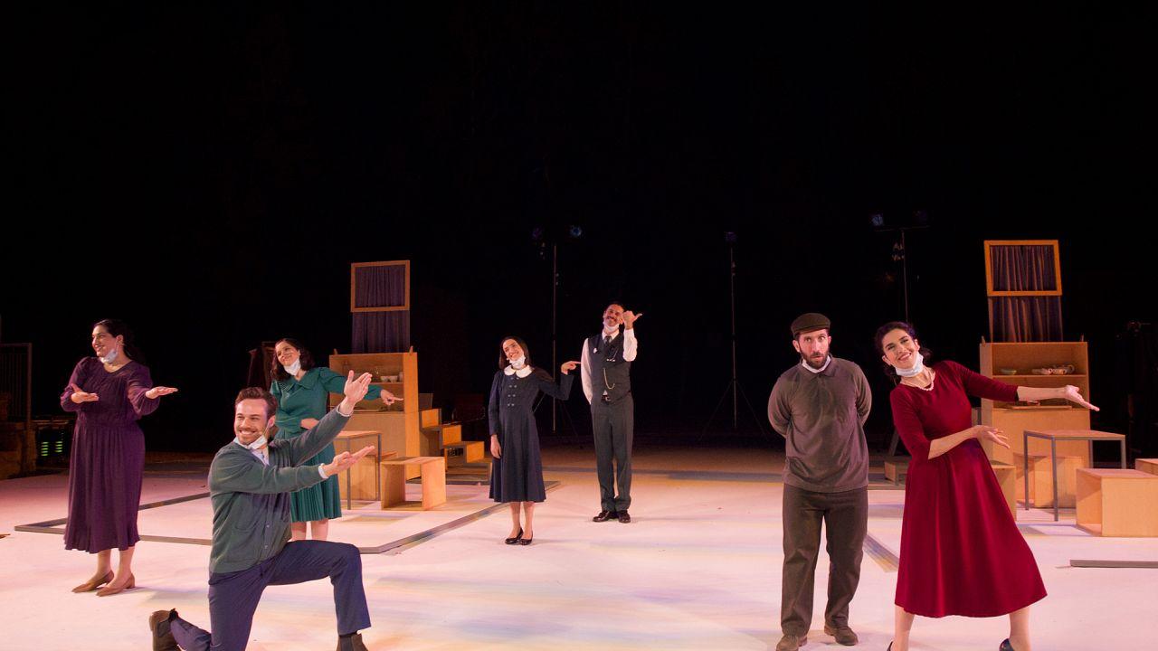"""Από την παράσταση του ΘΟΚ """"Η μικρή μας πόλη"""" τον Ιούνιο στο Αμφιθέατρο Σχολής Τυφλών Λευκωσίας"""