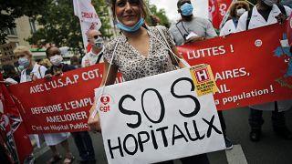 Jobb munkakörülményeket követelnek a francia és a spanyol egészségügyi dolgozók