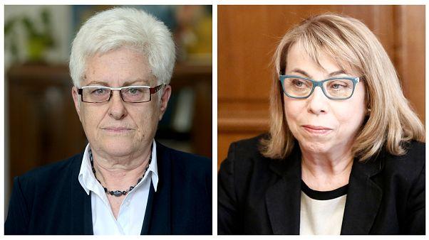 Αριστερά η νέα πρόεδρος του Συμβουλίου Επικρατείας και στα δεξία η νέα πρόεδρος του Αρείου Πάγου