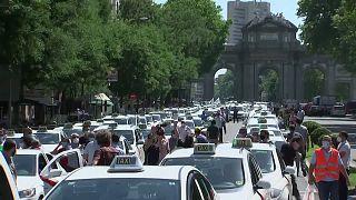 Μαδρίτη: Διαμαρτυρία οδηγών ταξί