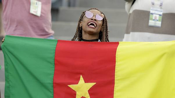 Photo d'archives : Supportrice camerounaise, Sotchi (Russie), le 25 juin 2017