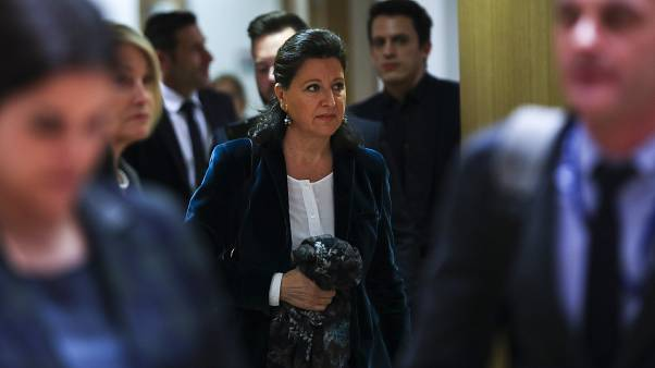 FILE: French Health Minister Agnes Buzyn arrives to an EU Health Ministers meeting to discuss the spread of the illness COVID-19.