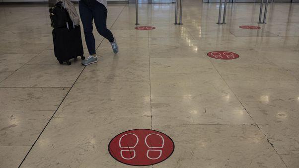 Flughafen in Madrid