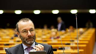 German MEP Manfred Weber attends a session in the Plenary chamber of the European Parliament in Brussels, Tuesday, March 10, 2020