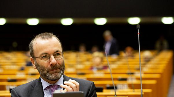 Manfred Weber attends a session in the Plenary chamber of the European Parliament