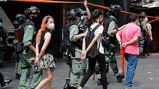 بازداشت تظاهرکنندگان در هنگکنگ
