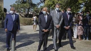 Reabre la frontera entre España y Portugal con un acto solemne