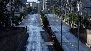 Roads in Addis Ababa have been empty in recent months during the coronavirus pandemic.