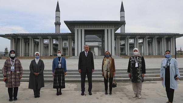 Turkey's President R.T. Erdogan at the Istanbul Airport