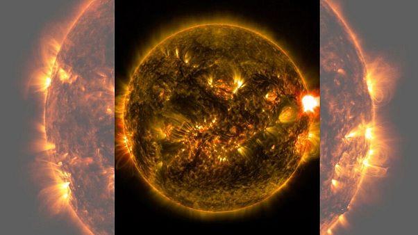 تصاویری که «رصدخانه پویاییشناسی خورشید» متعلق به ناسا ثبت کرده است