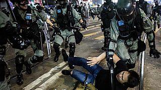 Zahlreiche Festnahmen bei Protesten gegen Sicherheitsgesetz in Hongkong