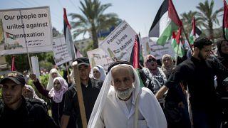 Жители Газы протестуют против территориальных планов Израиля