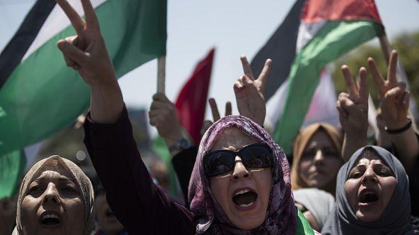 Protestas en Gaza contra Israel por las anexiones previstas
