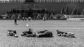 На Красной площади задержали участников акции, изобразивших телами число 2036