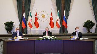 Türkiye, Rusya ve İran Videokonferans Zirvesi ile Suriye'yi görüştü