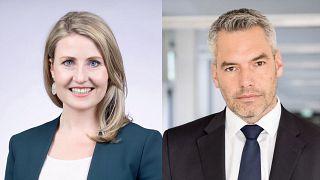 Karl Nehammer belügyminiszter és Susanne Raab integrációs miniszter