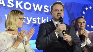 Rafał Trzaskowski durante un discorso a Varsavia nel 2018- AP Photo/Alik Keplicz