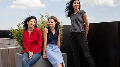 Melissa Wijngaarden, Noor Veenhoven, and Marcella Wijngaarden - the founders of Project Cece.