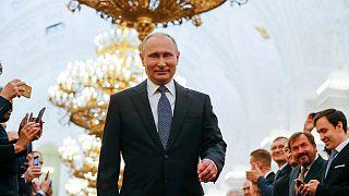 ولادیمیر پوتین در مراسم آغاز دوره ریاست جمهوری، ۵ مه ۲۰۱۸