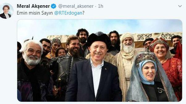 İYİ Parti Genel Başkanı Meral Akşener'in twit iletisi