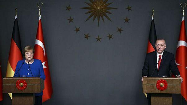 Almanya Başbakanı Angela Merkel // Cumhurbaşkanı Recep Tayyip Erdoğan