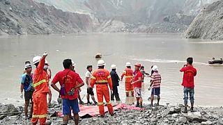 Glissement de terrain en Birmanie : au moins 113 morts dans une mine de jade à ciel ouvert