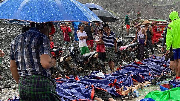 Erdrutsch-Opfer in Myanmar