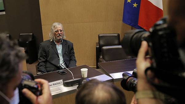 French virologist Dr. Didier Raoult,arrives before being questioned in a parliamentary inquiry into France's management of the virus crisis, Wednesday, June 24, 2020 in Paris.