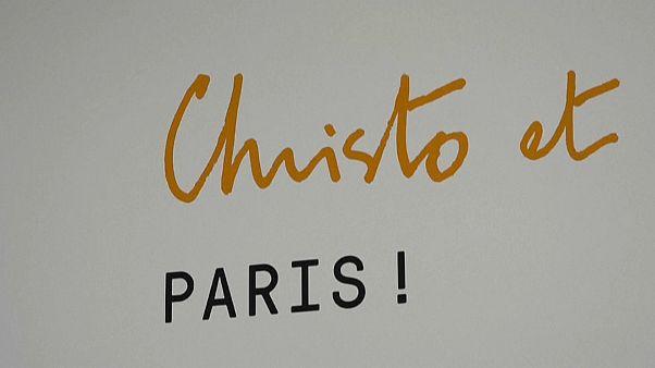 Christo no Centro Georges Pompidou