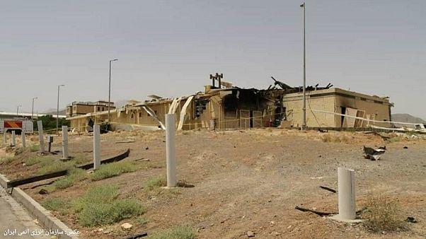 عکسی که سازمان انرژی اتمی ایران از محل حادثه منتشر کرده است