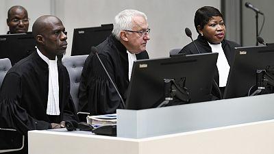 ICC's prosecutor Fatou Bensouda, right, with fellow prosecutors.