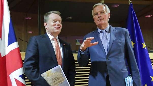 David Frost és Michel Barnier egy korábbi egyeztetésen