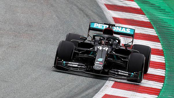 O campeão Lewis Hamilton foi o mais rápido do primeirodia de treinos no Red Bull Ring