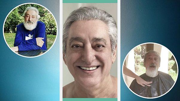 عکسهایی از ابی خواننده ایرانی قبل از تراشیدن ریشهایش و بعد از آن