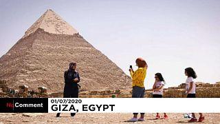 Mısır'ın Giza Piramitleri, Covid-19 salgınında 3 ay kapalı kaldıktan sonra yeniden ziyarete açıldı
