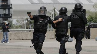 عناصر للشرطة الفرنسية وسط باريس