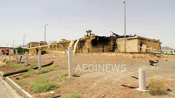 Photo fournie par l'Organisation de l'énergie atomique d'Iran montrant un bâtiment endommagé à Natanz, le 2 juillet 2020